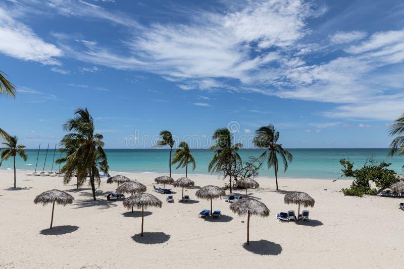 Bella spiaggia in Cuba Varadero Oceano immagini stock libere da diritti