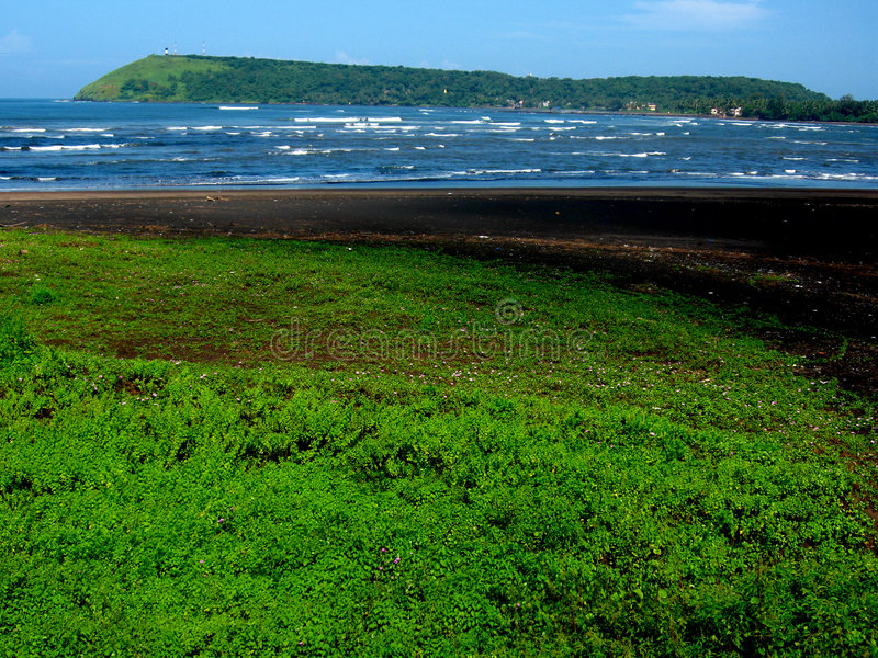 Bella spiaggia di Ratnagiri fotografia stock