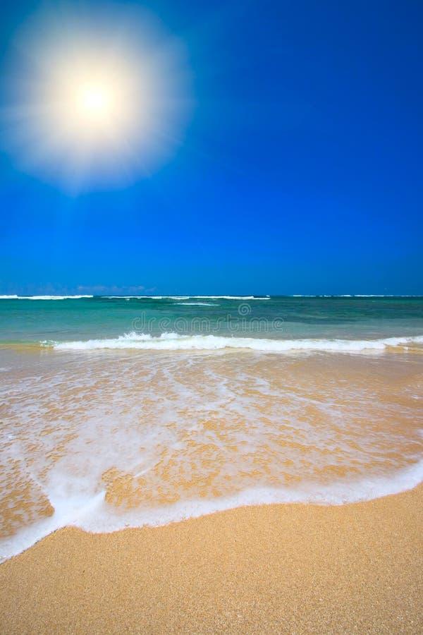 Bella spiaggia in estate immagini stock libere da diritti