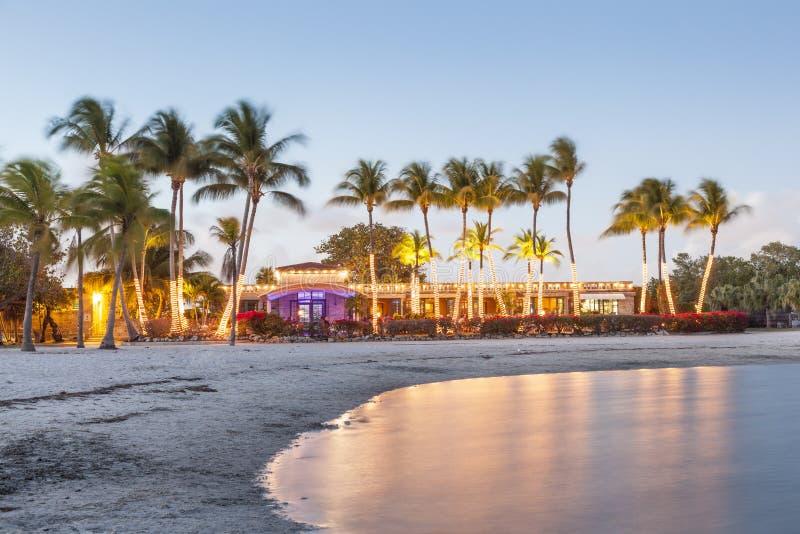 Bella spiaggia in Florida fotografia stock