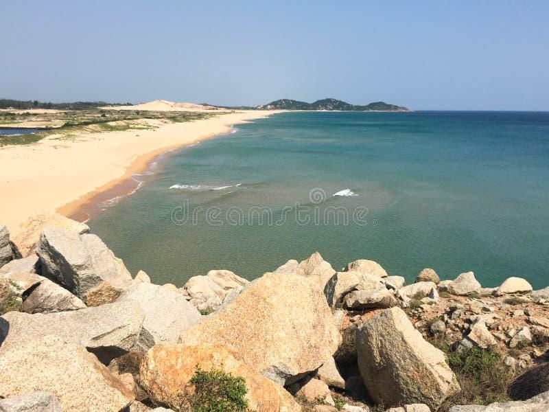 Bella spiaggia in Phu Yen, Vietnam fotografia stock libera da diritti
