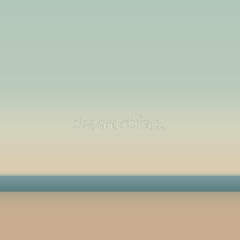 Bella spiaggia sabbiosa Fondo astratto per il web e le applicazioni mobili, illustrazione di arte, progettazione del modello, aff illustrazione di stock