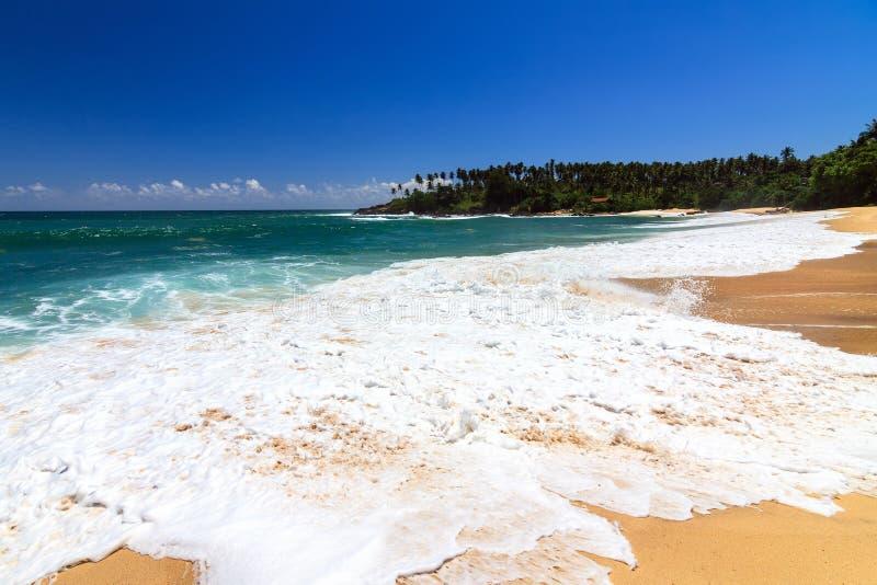 Bella spiaggia, Tangalle, Sri Lanka fotografie stock