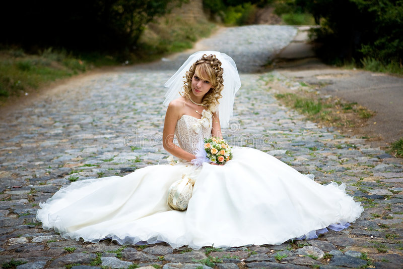 Bella sposa immagine stock