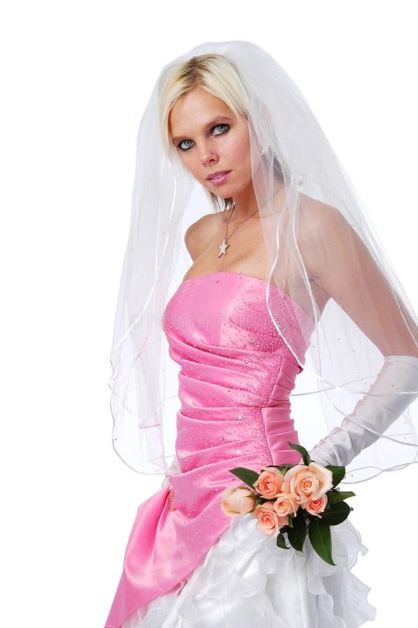 Bella sposa con le rose immagini stock libere da diritti