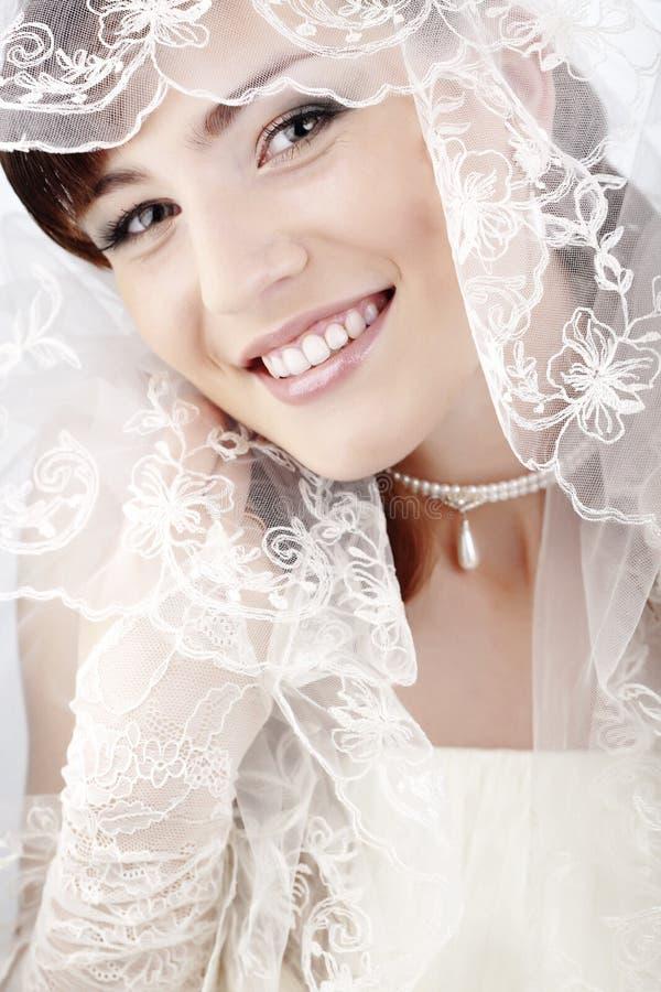 Bella sposa felice immagini stock