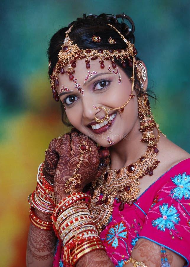 Bella sposa indiana fotografie stock libere da diritti