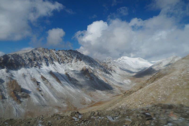 Bella stagione invernale in Leh Ladakh, l'India fotografie stock