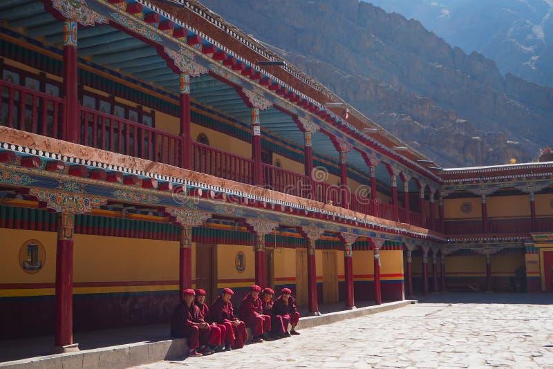 Bella stagione invernale in Leh Ladakh, l'India immagine stock libera da diritti