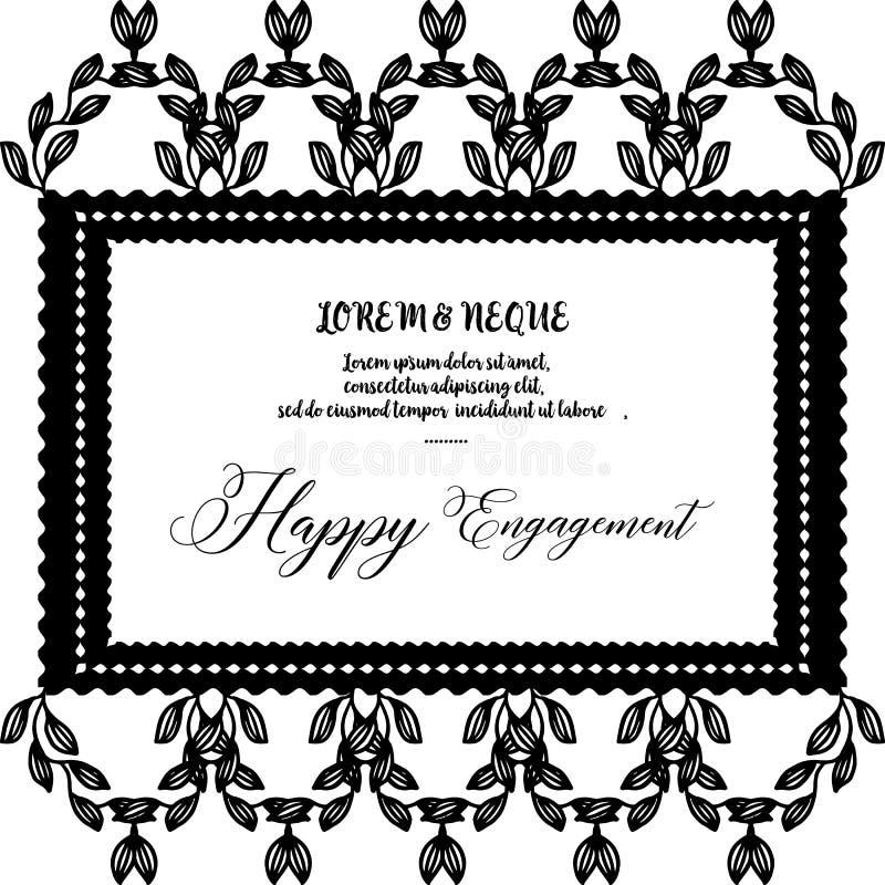 Bella struttura del fiore del modello, carta dell'invito della decorazione, cartolina d'auguri, con iscrizione dell'impegno felic royalty illustrazione gratis