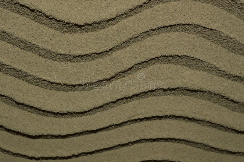 Bella struttura delle onde di sabbia fotografia stock