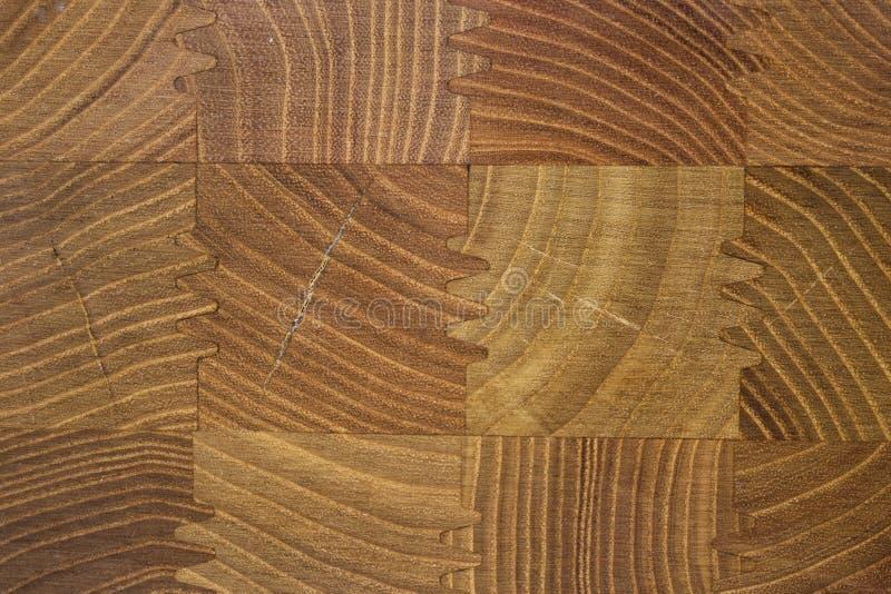 Bella struttura di legno del fondo con il modello di legno quadrato regolare degli elementi fotografia stock