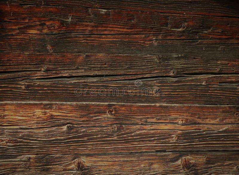Bella superficie di legno d'annata, tavola nei toni marroni fotografie stock