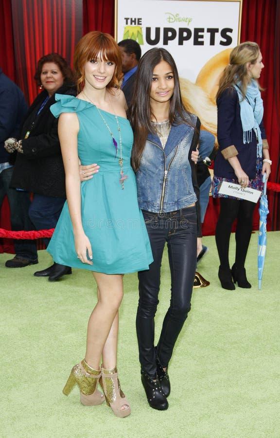 Bella Thorne Mia i Pia obrazy stock