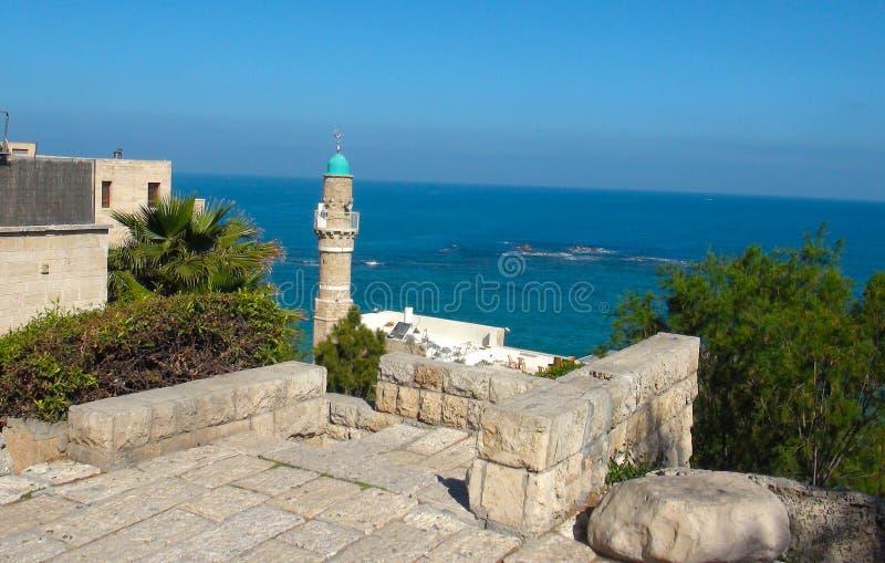 Bella vecchia città, vista del mare in Giaffa, Tel Aviv, Israele immagini stock