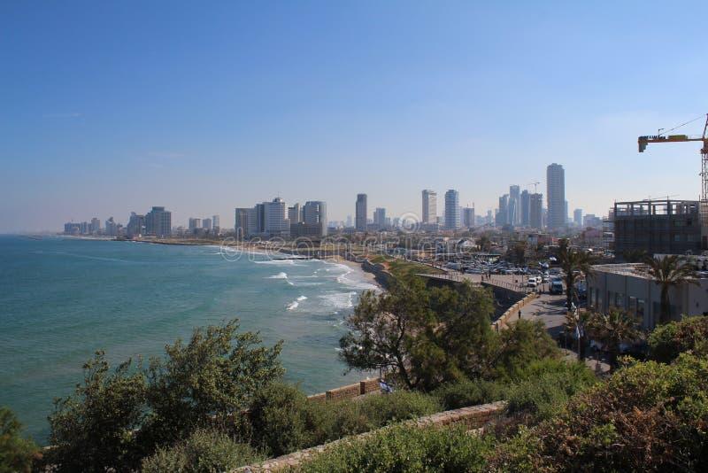 Bella vecchia città, vista del mare in Giaffa, Tel Aviv, Israele immagine stock