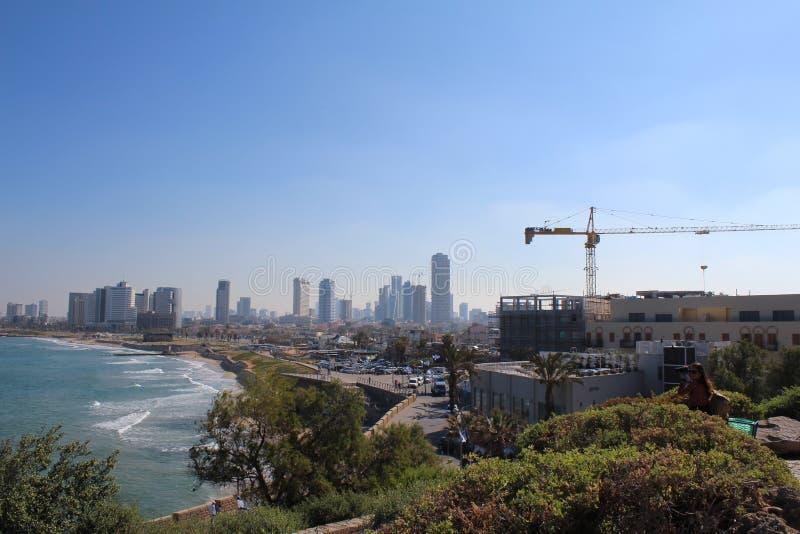 Bella vecchia città, vista del mare in Giaffa, Tel Aviv, Israele fotografie stock