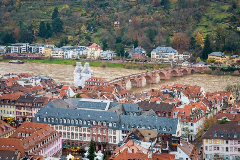 Bella vista aerea di Heidelberg fotografia stock libera da diritti