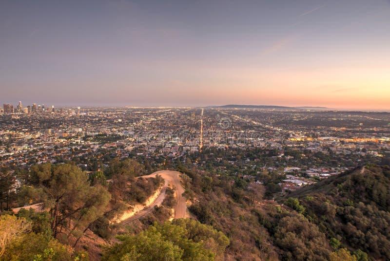 Bella vista aerea a Los Angeles fotografia stock libera da diritti
