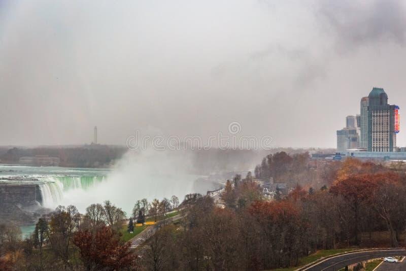 Bella vista al cascate del Niagara, Ontario, Canada fotografie stock