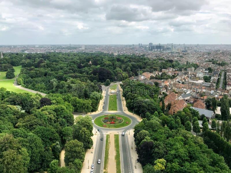 Bella vista bruxelles belgium europa immagini stock
