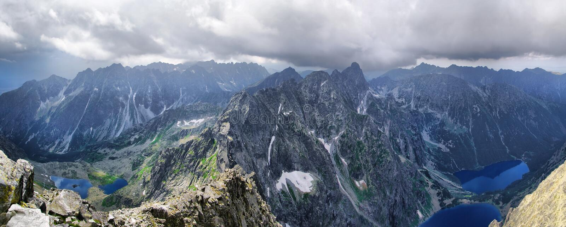 Bella vista da Rysy a Tatras fotografie stock libere da diritti