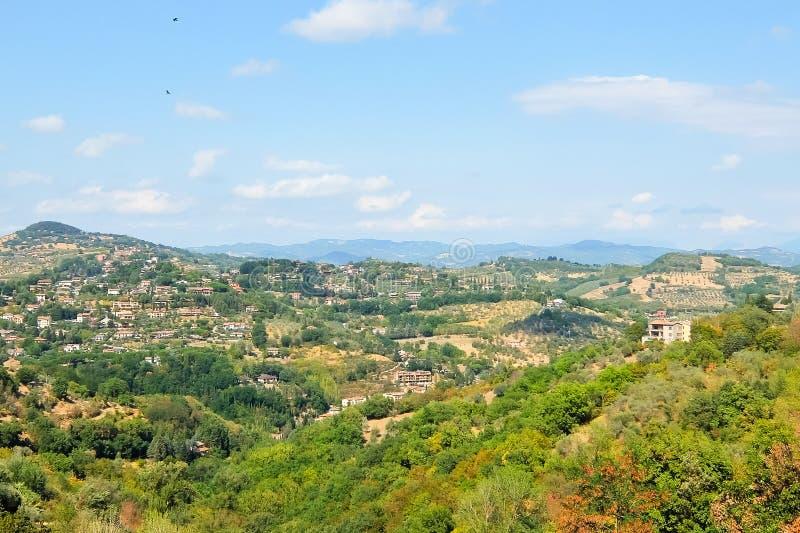 Bella vista dalla collina di Perugia fotografia stock