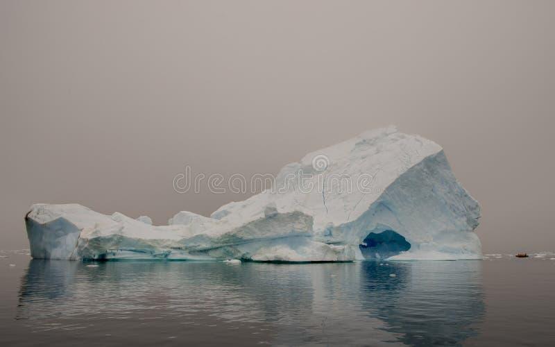 Bella vista degli iceberg in Antartide immagine stock libera da diritti