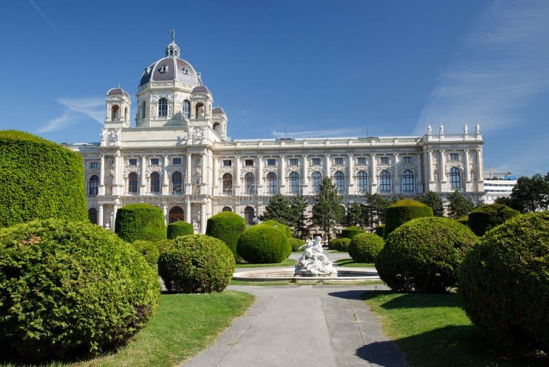 Bella vista del museo del museo di Kunsthistorisches dell'indennità A fotografia stock