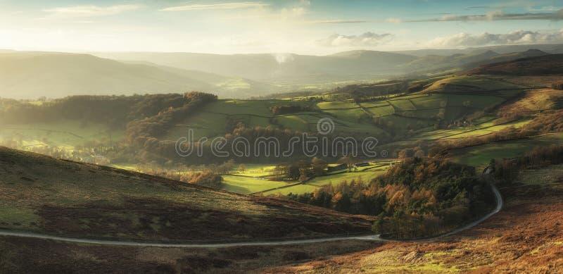 Bella vista del paesaggio della valle di speranza in distretto di punta durante immagine stock libera da diritti