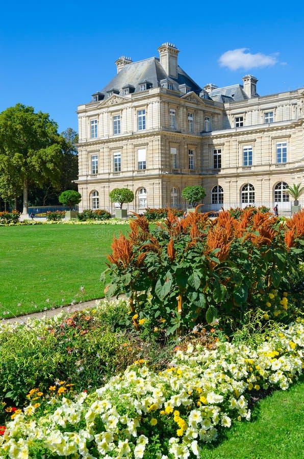 Bella vista del palazzo Palais du Lussemburgo, Parigi, Francia del Lussemburgo immagine stock