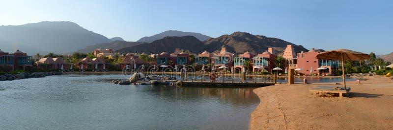 Bella vista dell'hotel nell'Egitto immagini stock
