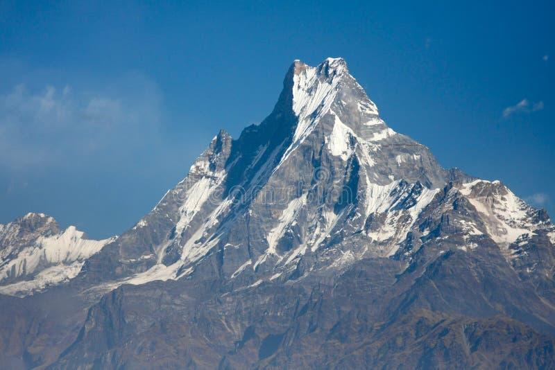 Bella vista dell'intervallo di Annapurna, montagne himalayane, Nepal fotografie stock libere da diritti