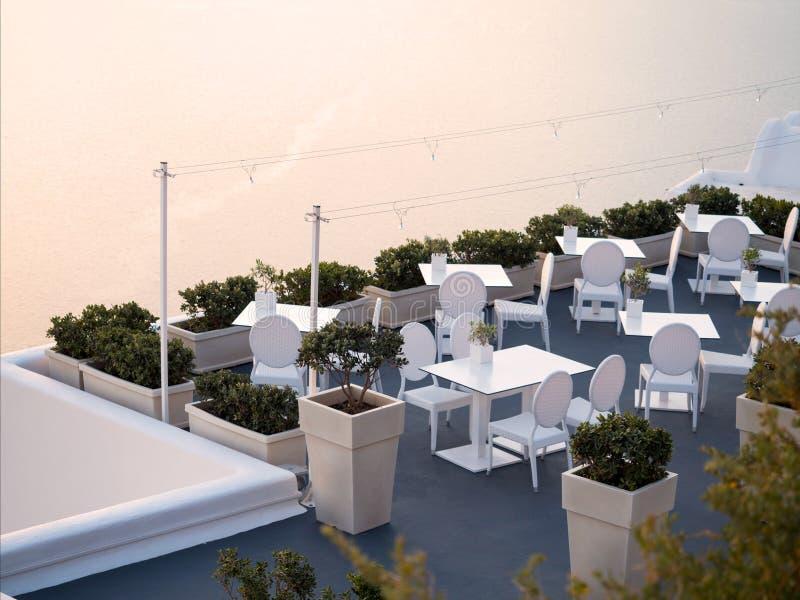 Bella vista dell'isola di Santorini immagine stock libera da diritti