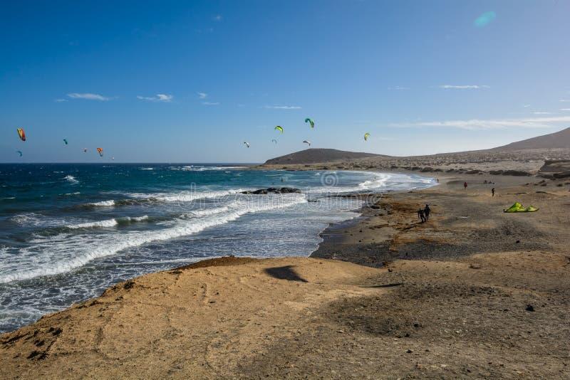 Bella vista dell'oceano Tenerife, Isole Canarie, Spagna fotografia stock