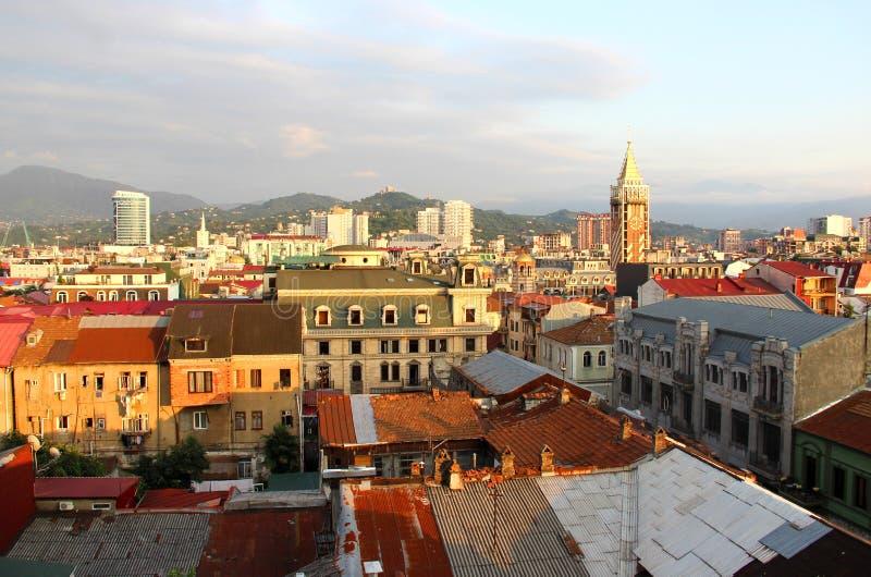 Bella vista della città di Batumi fotografie stock libere da diritti