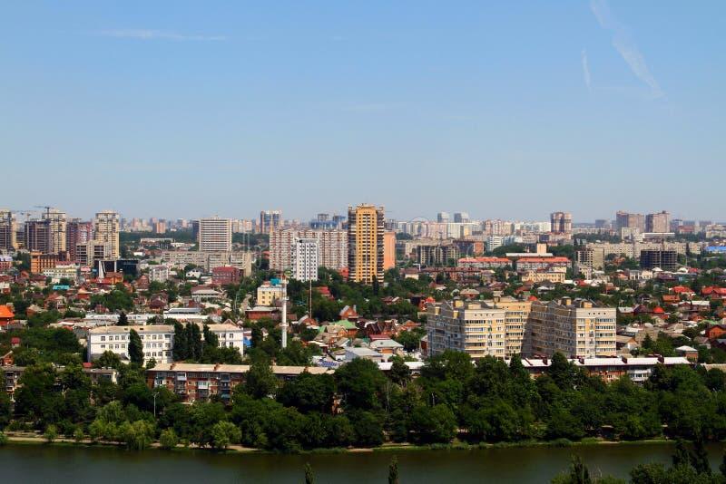 Bella vista della città di Krasnodar immagini stock libere da diritti