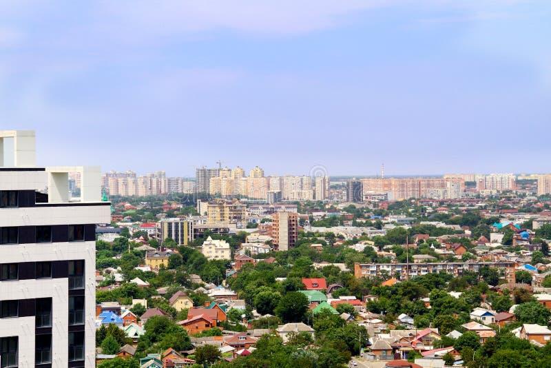 Bella vista della città di Krasnodar fotografia stock libera da diritti