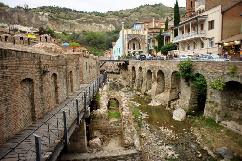 Bella vista della città di Tbilisi fotografia stock libera da diritti