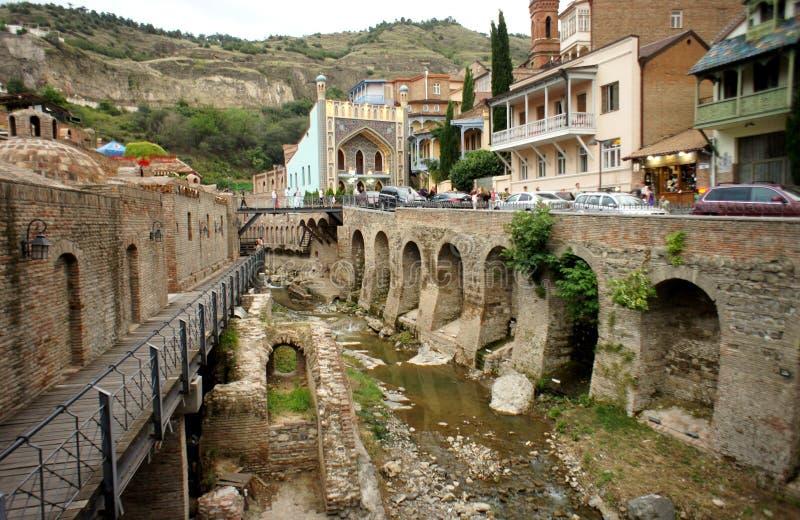 Bella vista della città di Tbilisi fotografie stock