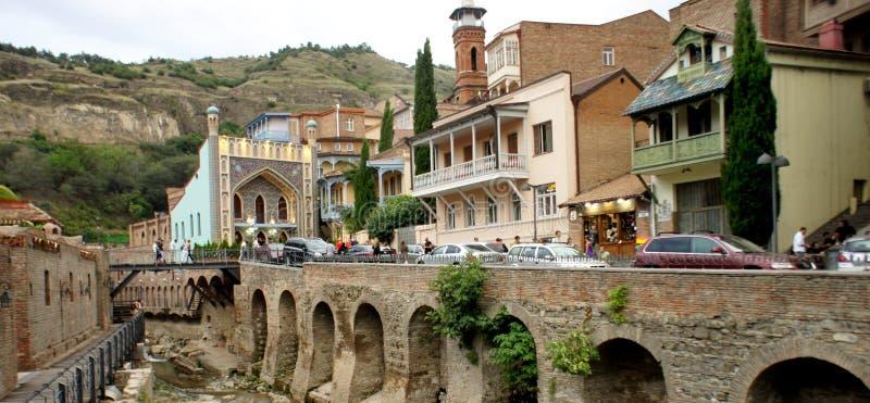 Bella vista della città di Tbilisi immagine stock libera da diritti