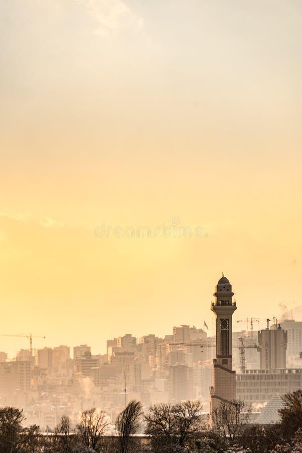 Bella vista della città iraniana fotografie stock