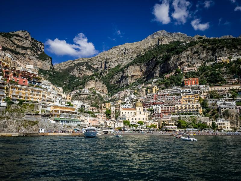 Bella vista della costa di Amalfi fotografia stock