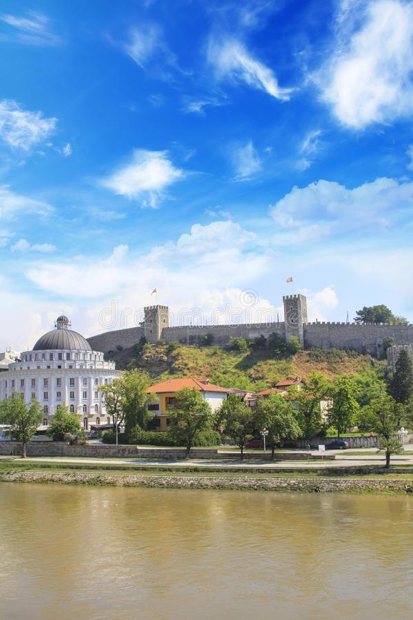 Bella vista della fortezza del cavolo della fortezza di Skopje a Skopje, Macedonia immagini stock