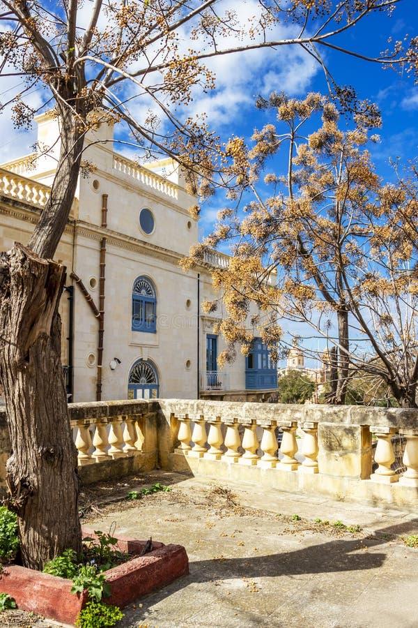 Bella vista di Birgu, Malta immagine stock libera da diritti