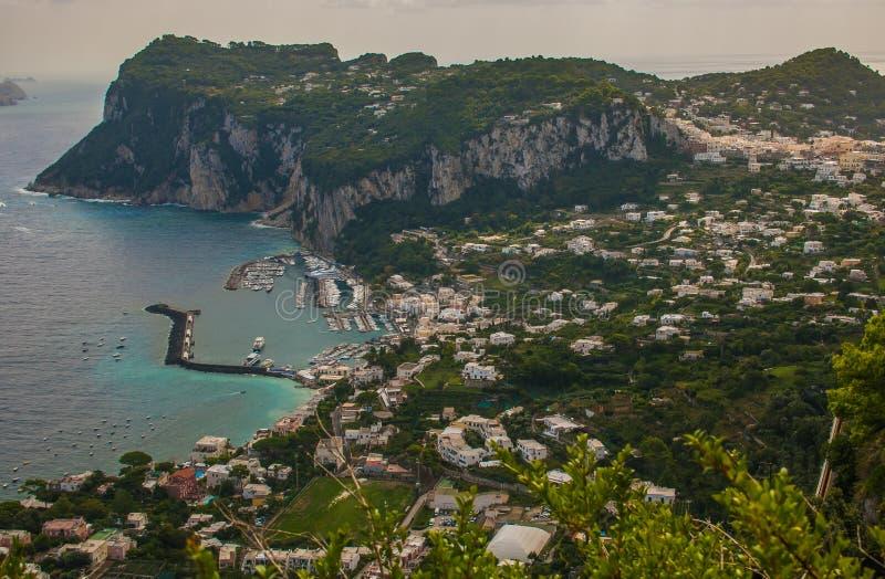 Bella vista di Capri sul mar Tirreno, campania fotografia stock