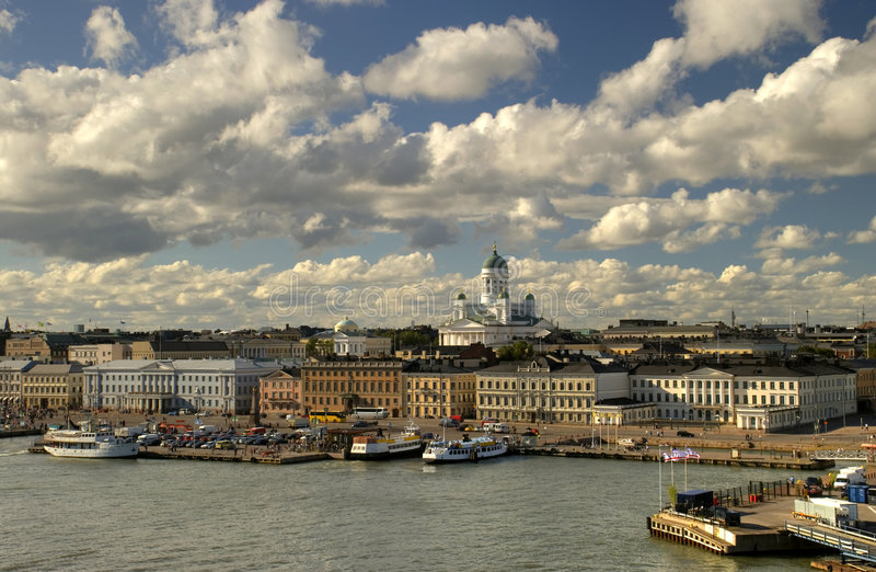Bella vista di Helsinki immagine stock