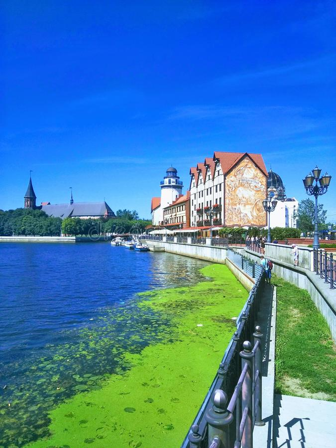 Bella vista di Kaliningrad Russia fotografia stock libera da diritti