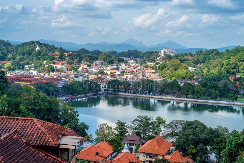 Bella vista di Kandy nello Sri Lanka fotografie stock