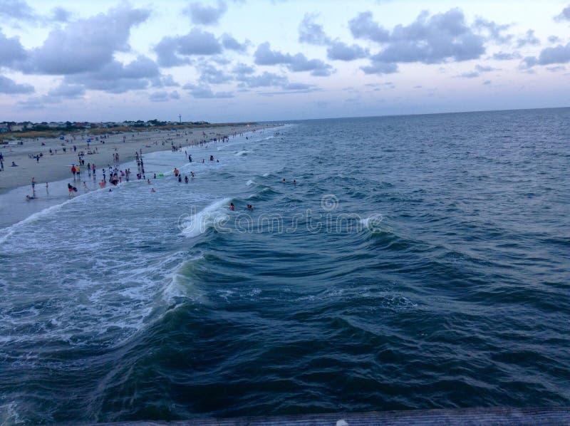Bella vista di oceano fotografia stock
